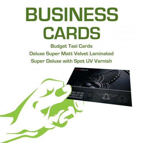 Business Cards - Budget Taxi Cards to Deluxe Spot UV Varnished